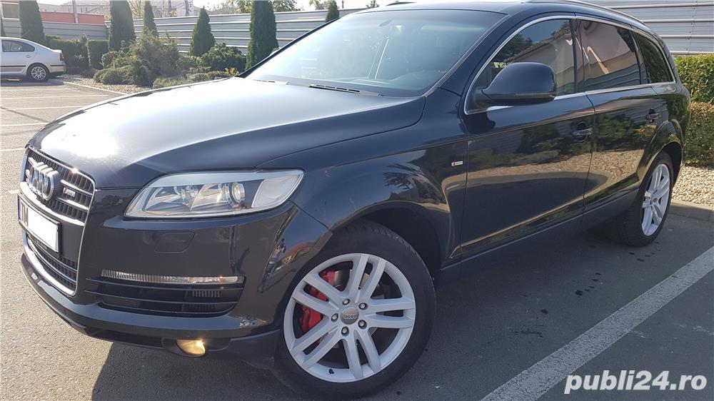 Audi Q7 S-line,sapte locuri,plafon panoramic,padele volan,proprietar,certificat fiscal pe loc!
