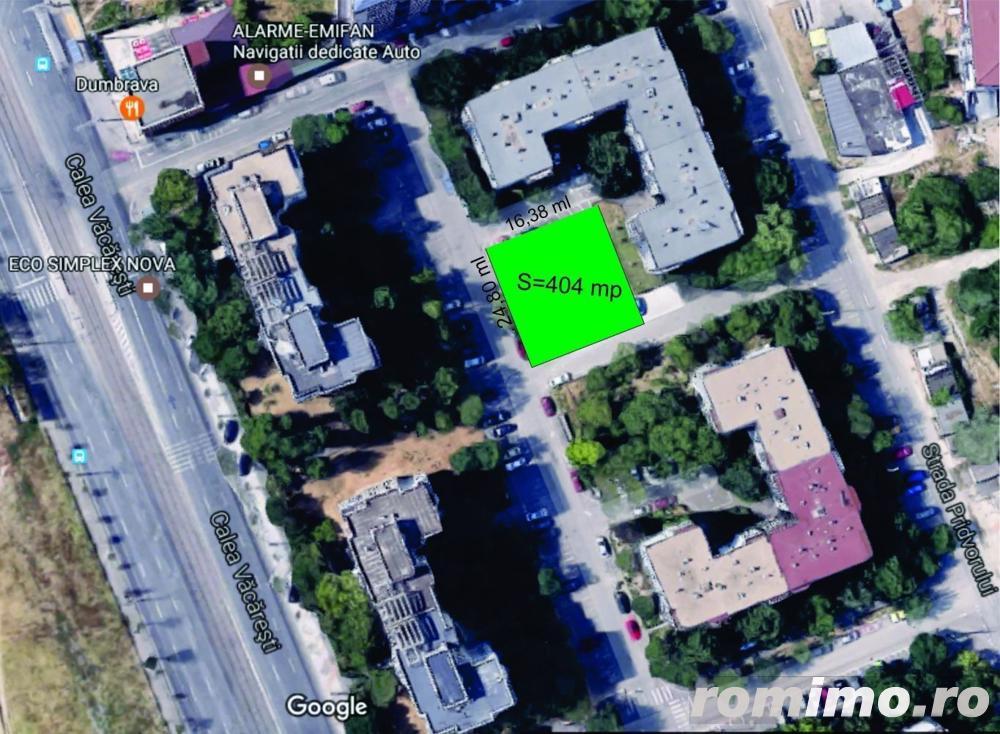 Vacaresti Parcul Tineretului 404 mp, P+5-10 Et alei asfaltate 3 laturi