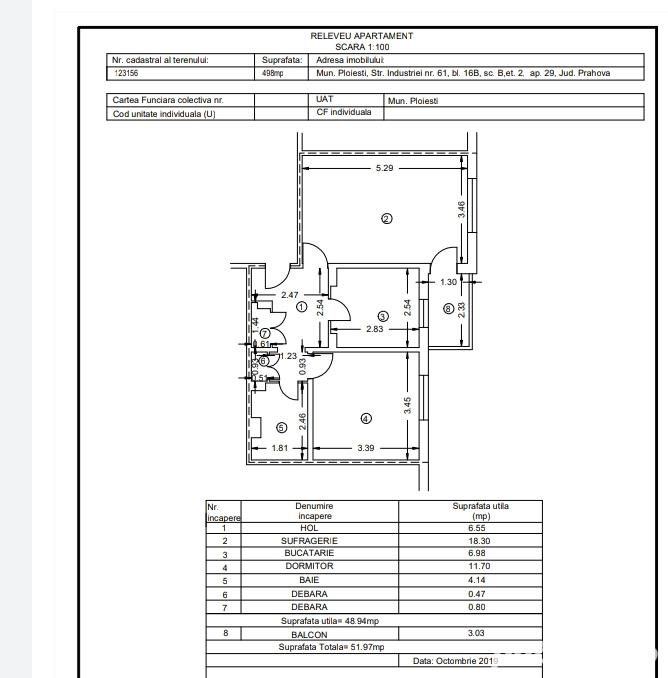 Apartament 2 camere, decomandat, Bd. Bucuresti, Ploiesti