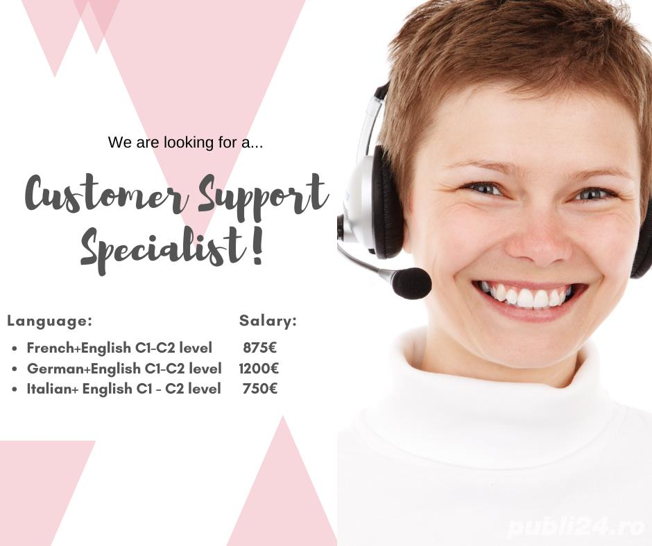 Specialist Customer Support- pana la 1200 euro net!!