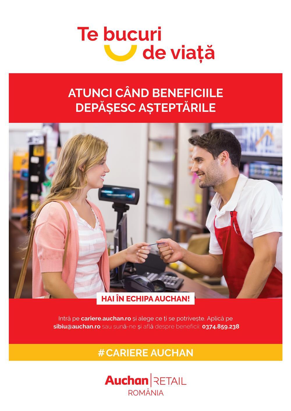 Auchan Sibiu recruteaza Consilier Vanzari Electronice. Vino in echipa noastra!