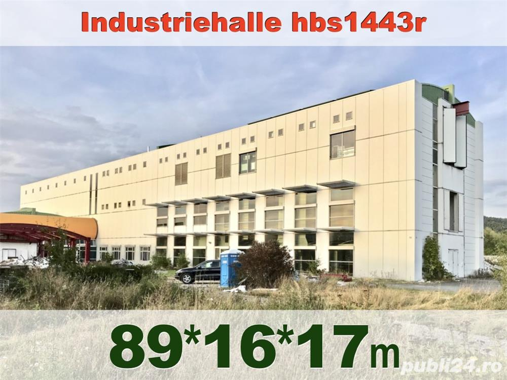 Hală metalică demontabilă 1443m2, P+2, second hand, demontare în Germania