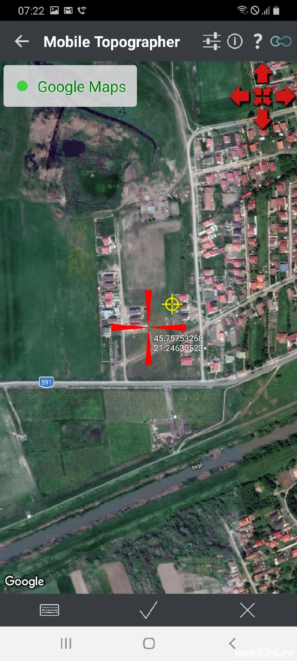 Sanmihaiul Roman,teren pt casa 533mp. front str 16 ml. Cu utilitati in curs 25 euro/mp