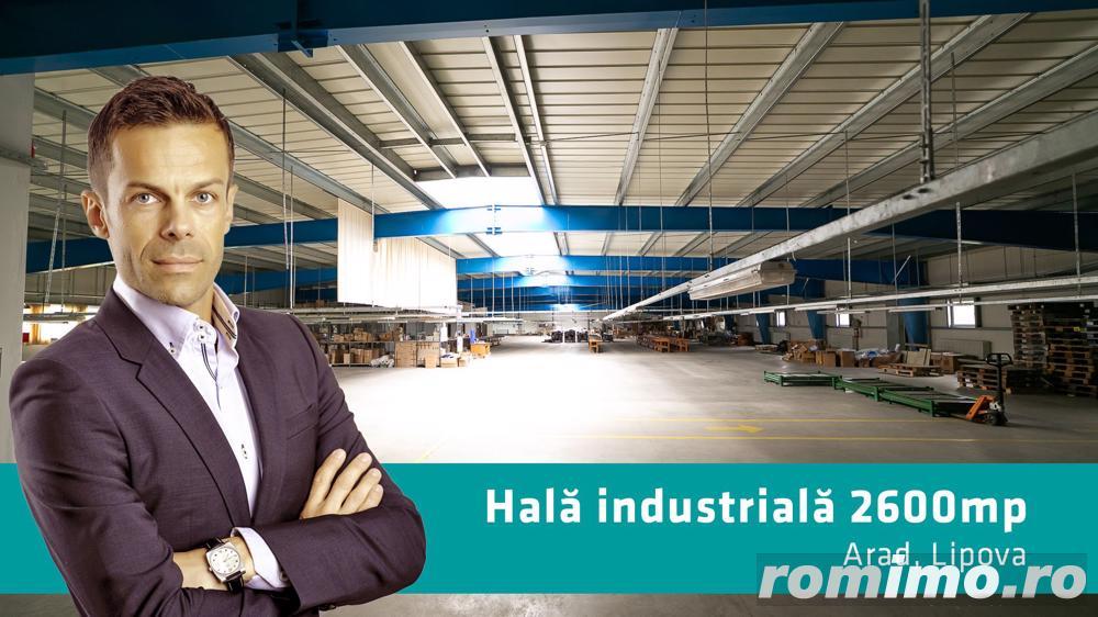 Hală industrială 2.642 mp. în Lipova
