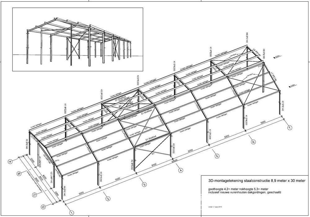 Vand Structura hala metalica 267 mp