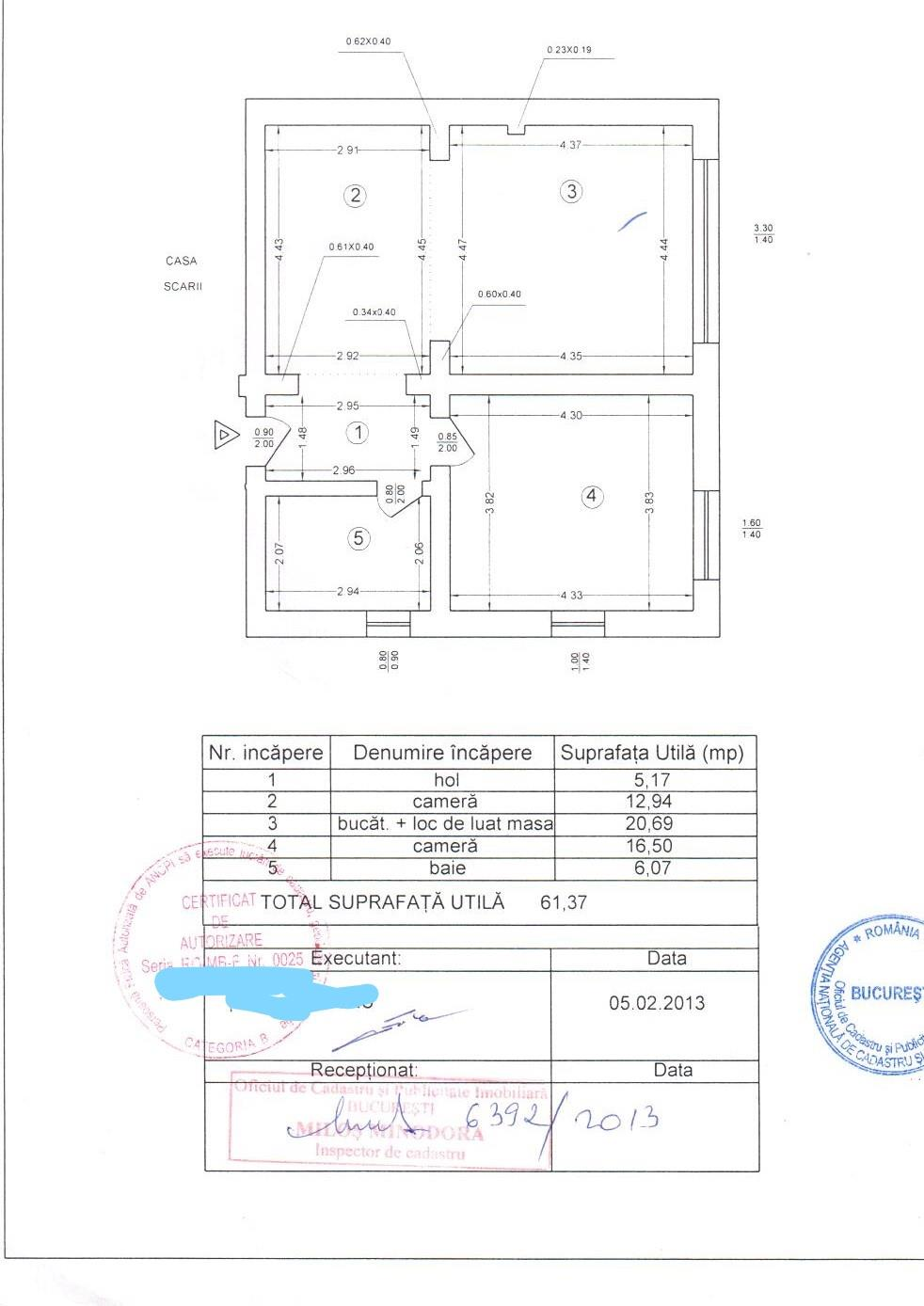 ocazie 2 camere si gradina proprietate  73 mp