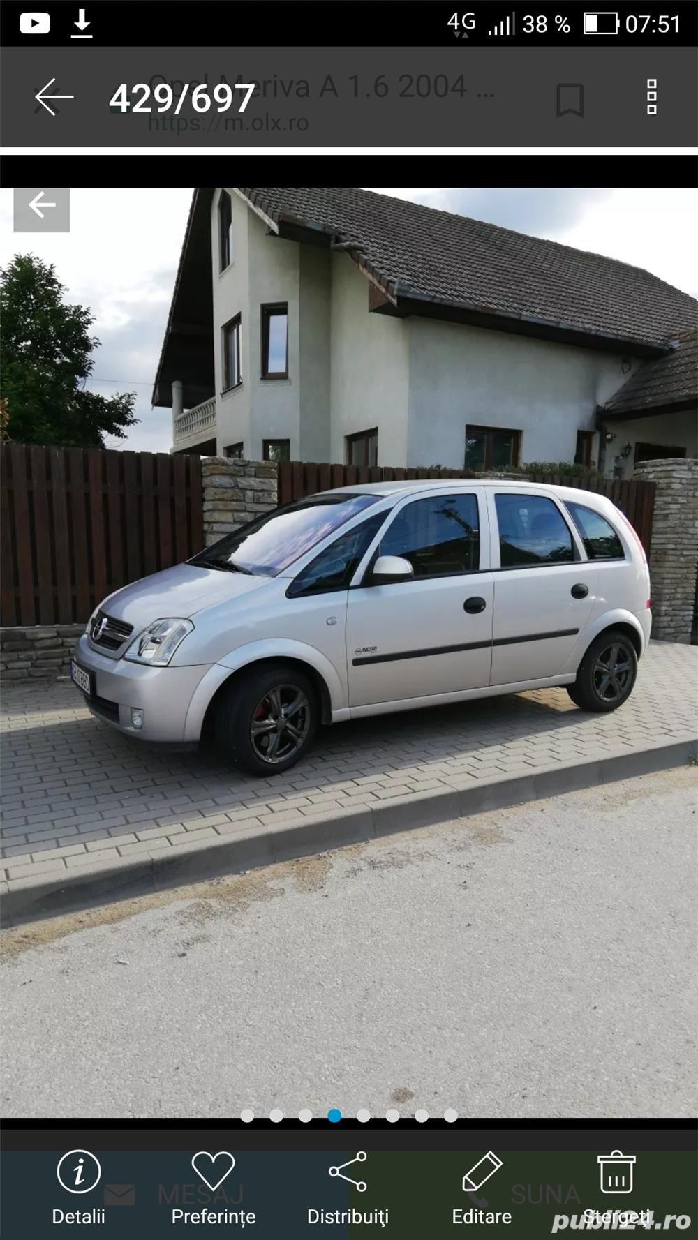 Opel Meriva cutie robotizata1.6 benzina/gpl