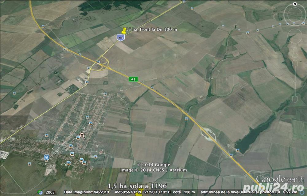 De vanzare teren pentru servicii sau hale, la Drumul Judetean, 10 ha