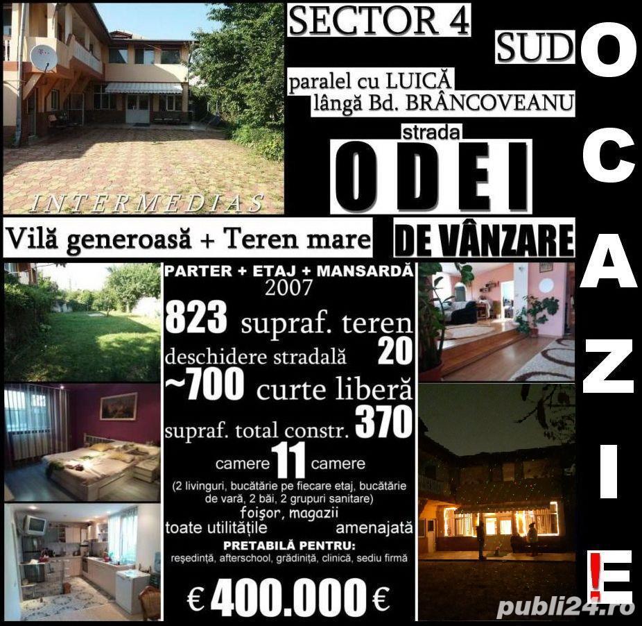 Berceni-Odei, vilă 11 cam, 370mp construit, 823mp teren