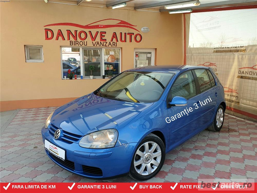 Vw Golf 5,GARANTIE 3 LUNI,BUY BACK ,RATE FIXE,motor 1900 Tdi,105cp.