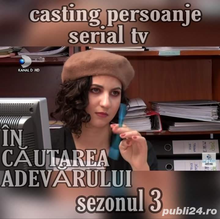 Casting actori amatori serial de televiziune