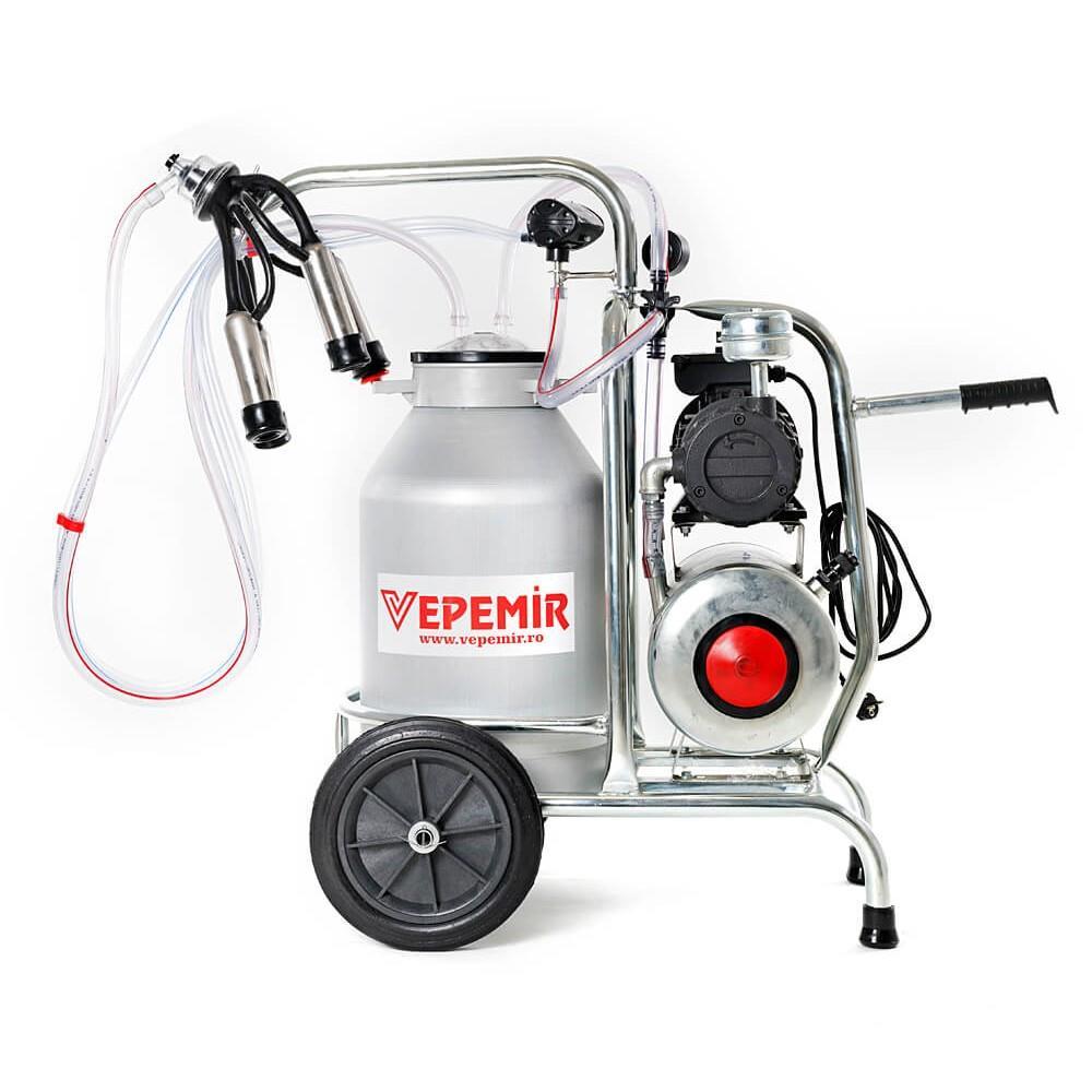 Aparat de muls vaci VEPEMIR 1 post si 1 bidon Aluminiu 20 litri/ Mulgatoare / Mulgatori