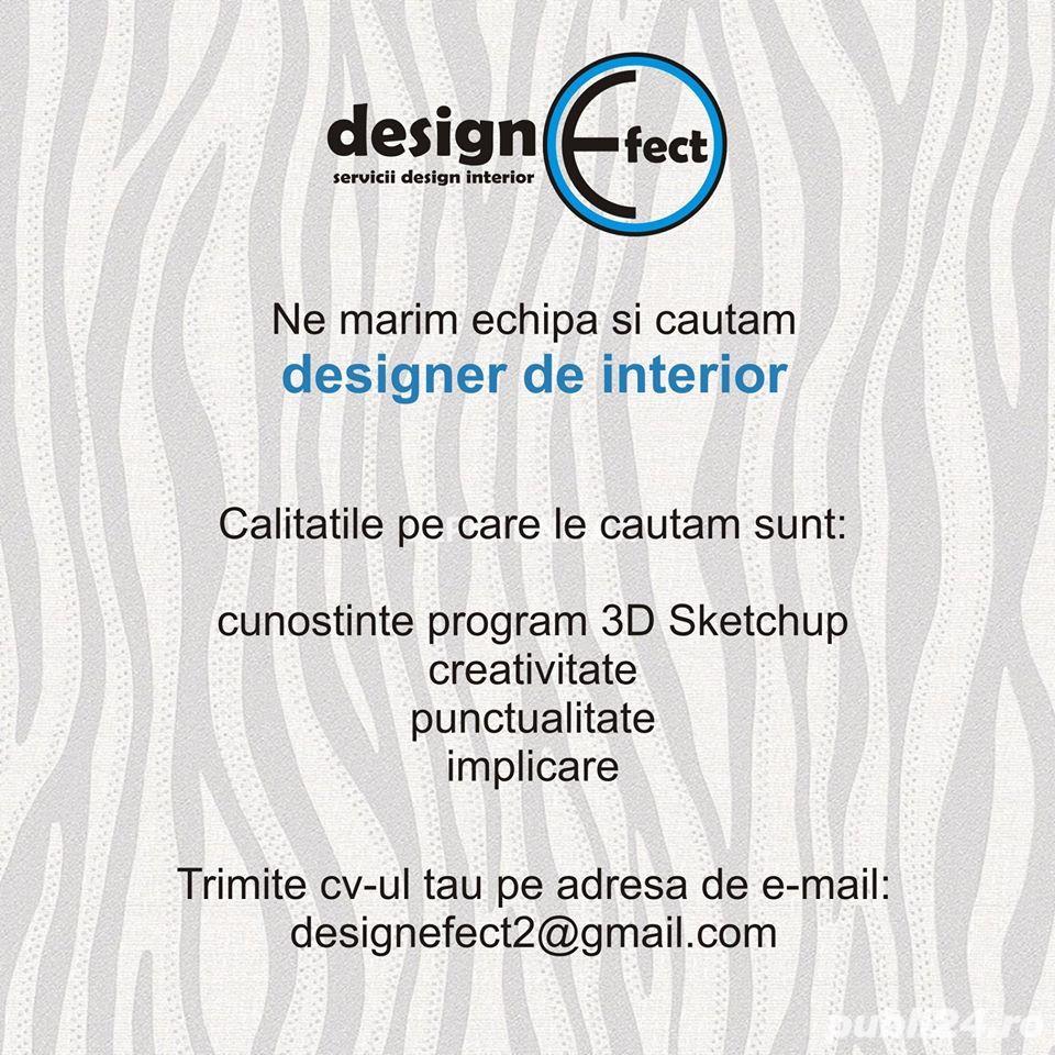 Angajam designer de interior