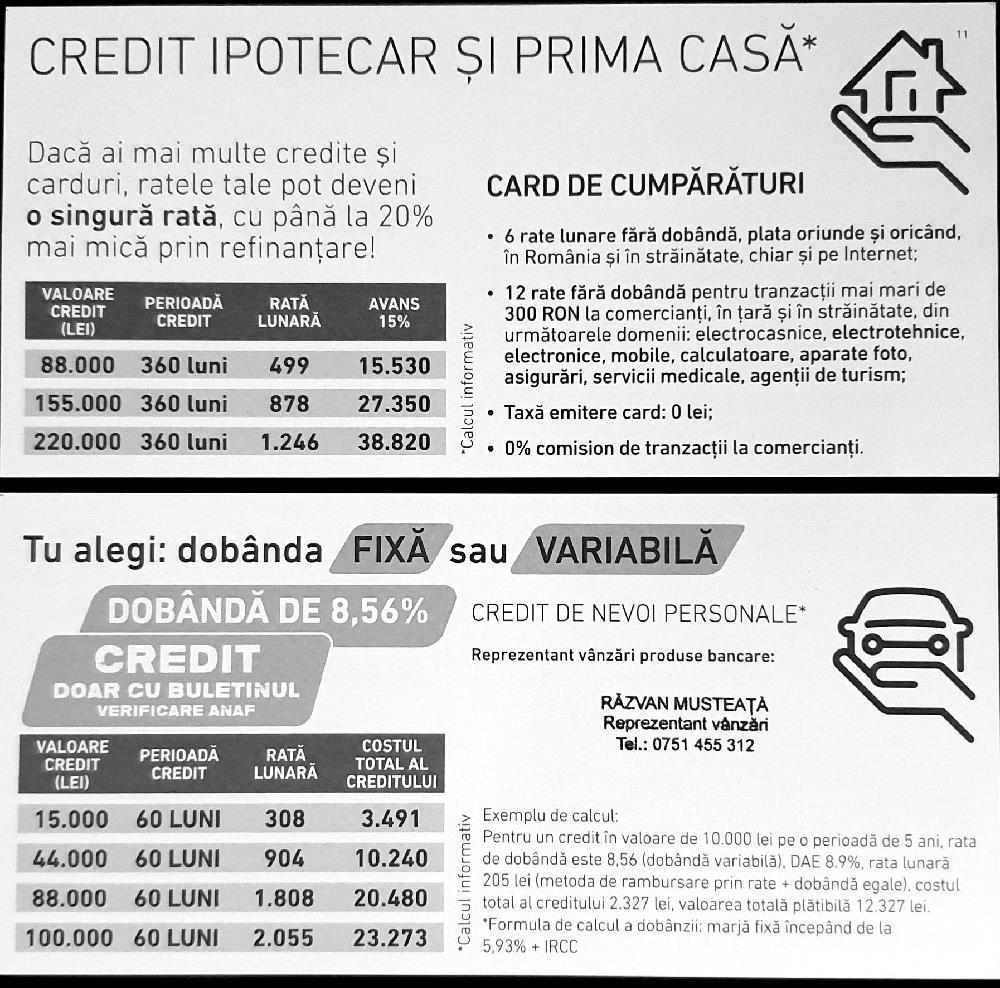 Credite / Carduri de cumparaturi