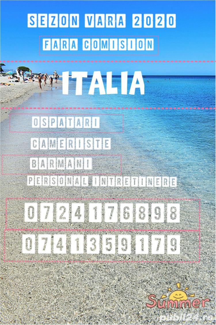 Cameriste si ospătari sezon hotelier Italia