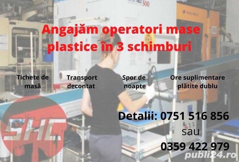 Angajam operatori mase plastice