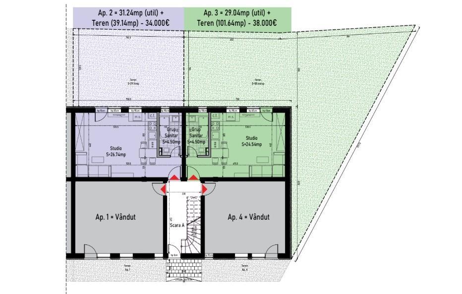 Garsoniere & Apartamente / vanzare / Calea Cisnadiei