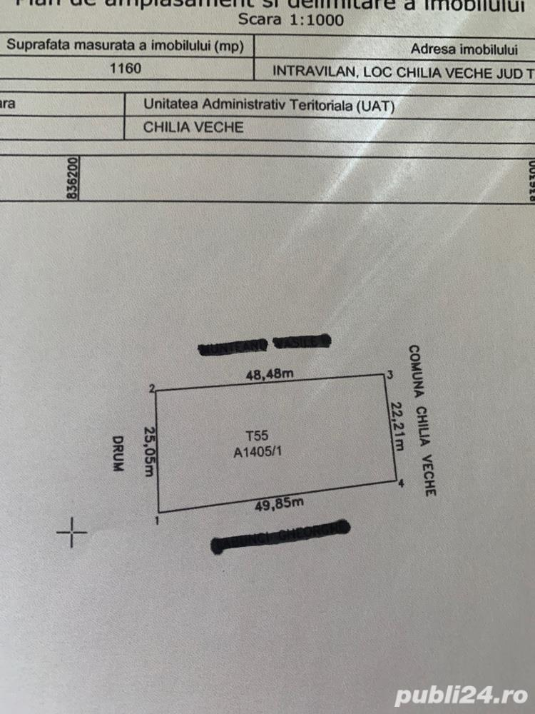 vand teren intravilan Chilia -in rate