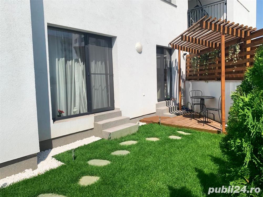 Apartament 2 camere cu gradina 69 mp langa Padurea Baneasa, zona cu cel mai curat aer din Bucuresti.