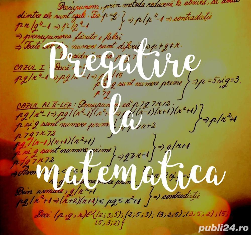 Pregatire la matematică