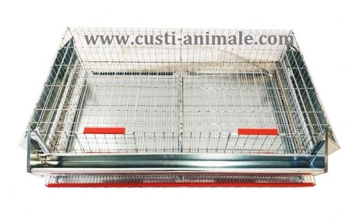 Cusca pentru prepelite ouatoare 50 pasari 90x50x25 cm