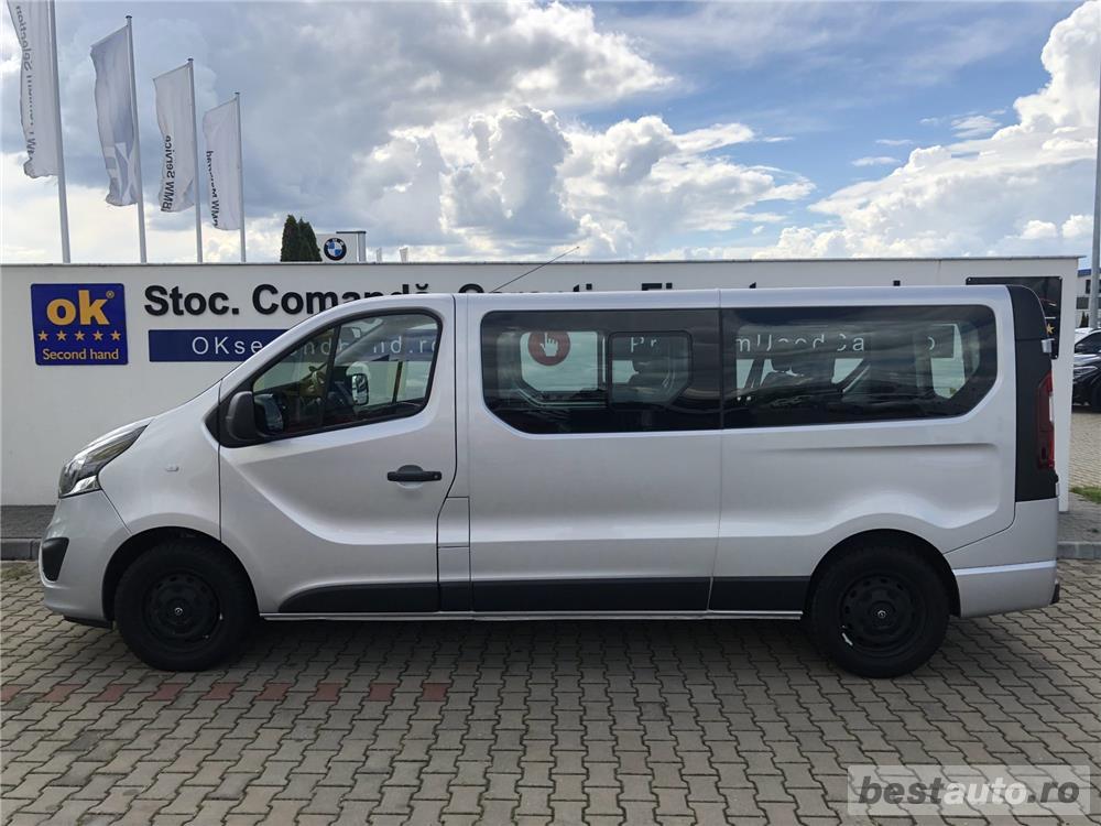 Opel Vivaro 8+1 locuri   L2H1   1.6D   AC Fata+Spate   Senzori Parcare   Tempomat   Bluetooth   2017