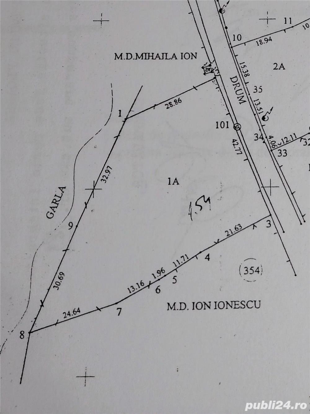Vând teren intravilan în loc. Matița - Păcureți, Județul Prahova