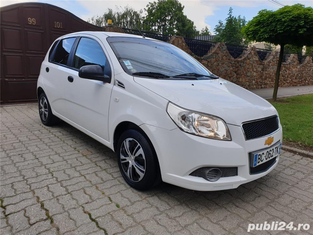 Chevrolet Aveo 1.2 Benzina + GPL 75 Cp Euro 5 An 2011 Alb Perla