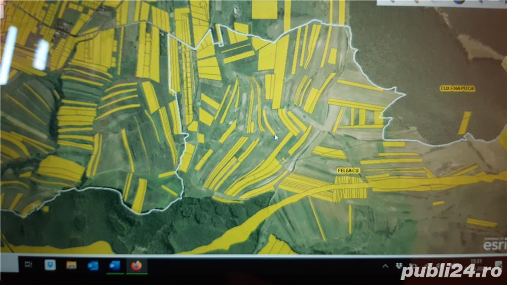 Vand doua parcele de teren de cate 2900 mp pe centura Valcele-Apahida