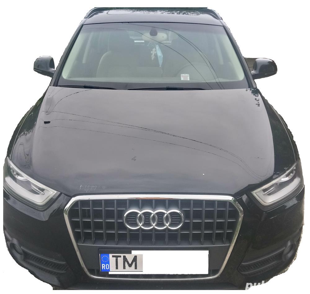 Audi Q3 2.0 TFSI Quattro S-tronic, 170CP, 4x4 cutie automata, far Xenon+lumini LED, trapa panoramica