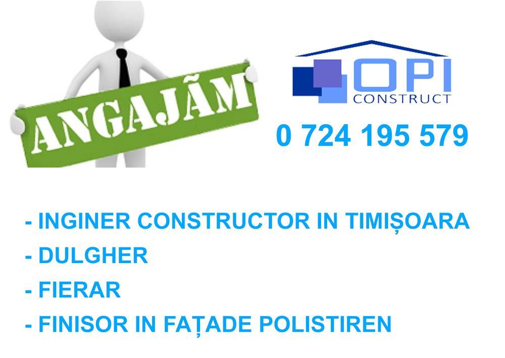 Angajam inginer constructor, dulgher, finisor fatade polistiren in Timisoara