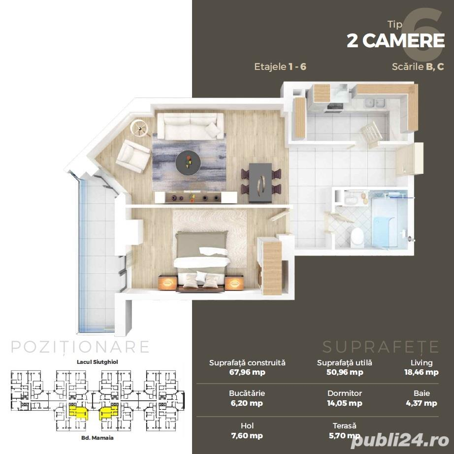 2 camere lux in Ansamblul Solid Residence Mamaia Butoaie