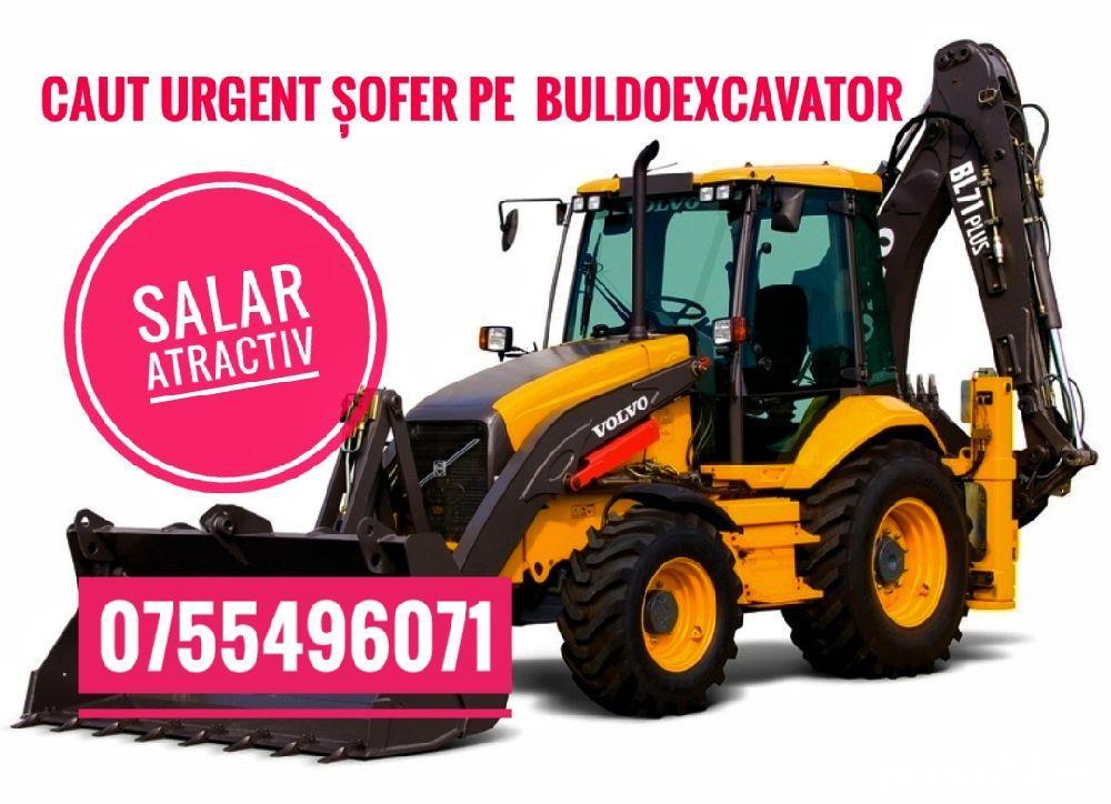 Urgent! Salar 4000Ron Caut ( sofer) operator masinist pe buldoexcavator