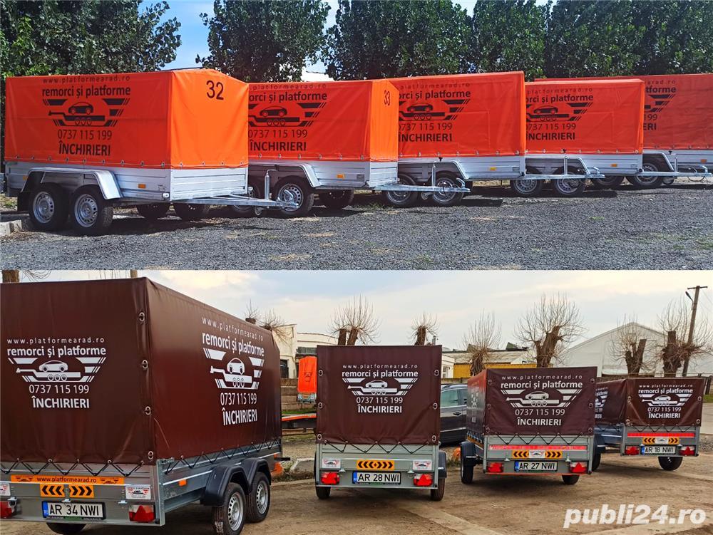 inchiriere remorca 750kg 1500kg 2000kg trailer platforma 1500kg 3500kg slep transport auto remorci