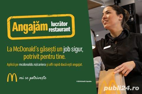 Lucrator restaurant zona Valea Cascadelor sector 6