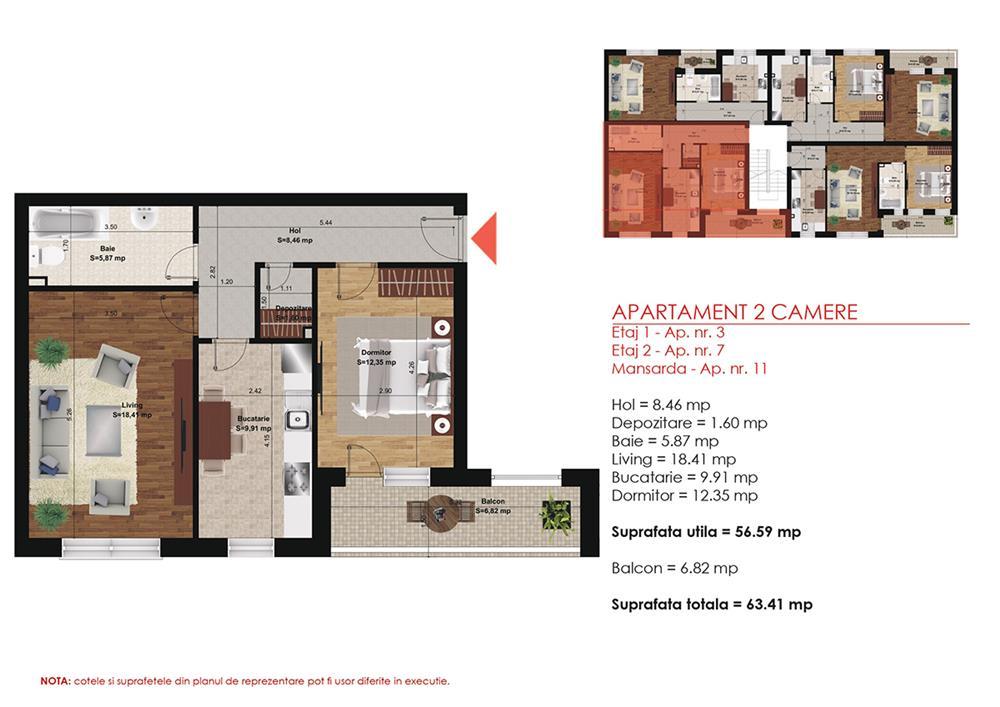 Apartament 2 Camere -  Direct Dezvoltator