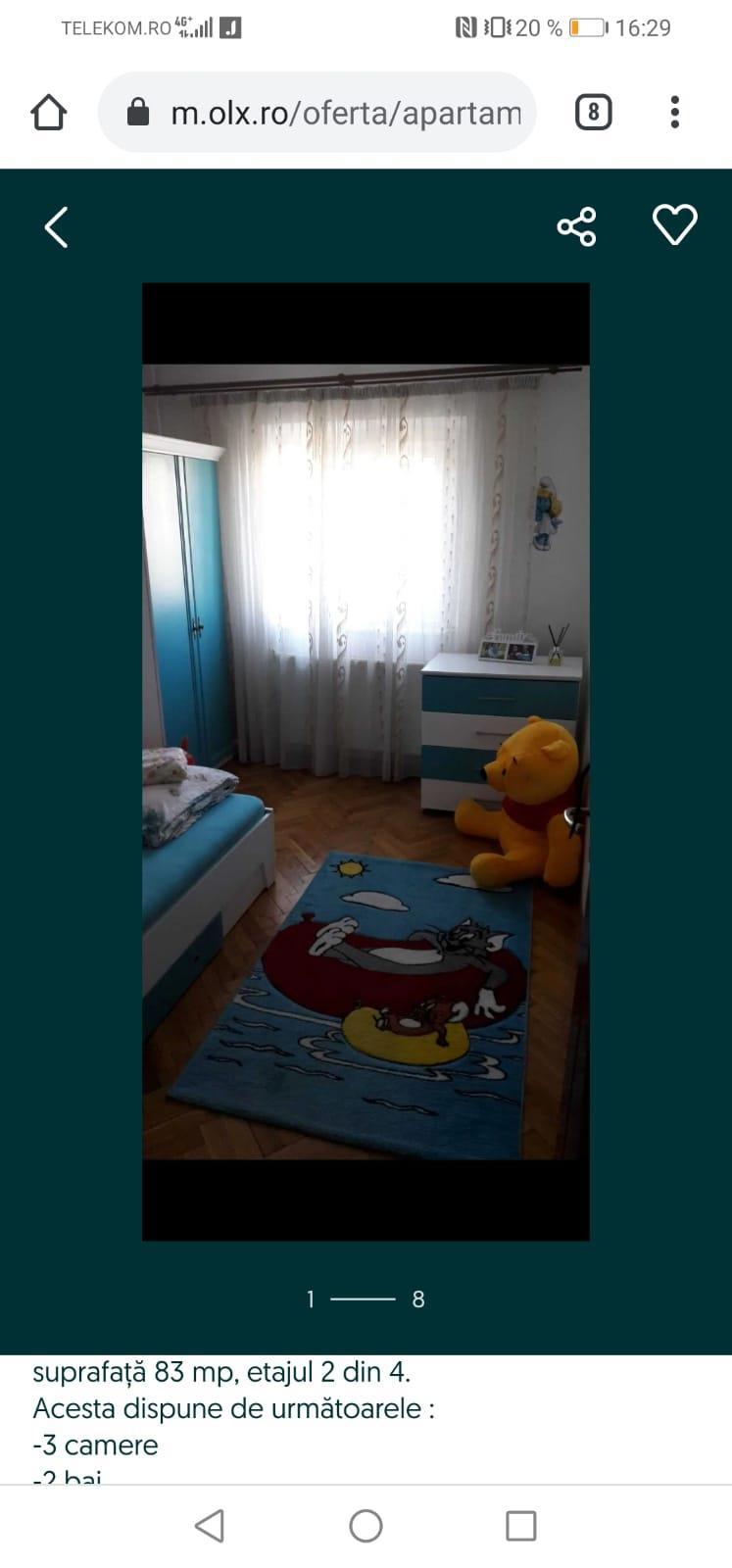 Apartament 3 camere full decomandat