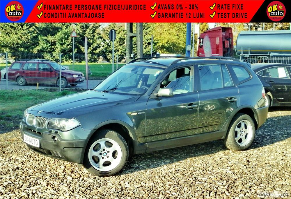 BMW X3 4X4 - GARANTIE 12 LUNI - 2.0 diesel - XENON - RATE FIXE avans 0%.