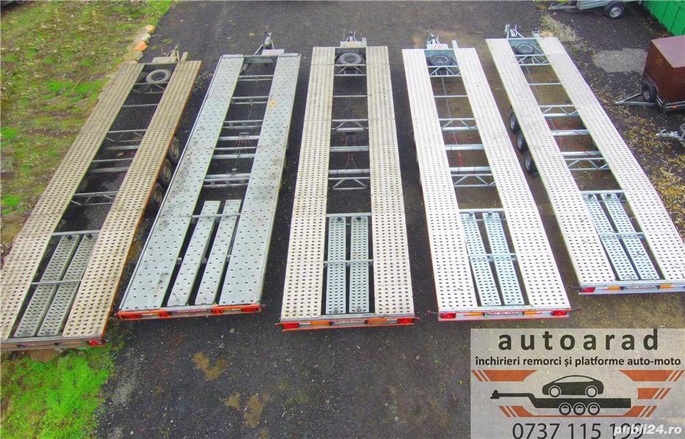 Inchirieri platforme auto pentru dube prelate sau camionete slep remorca