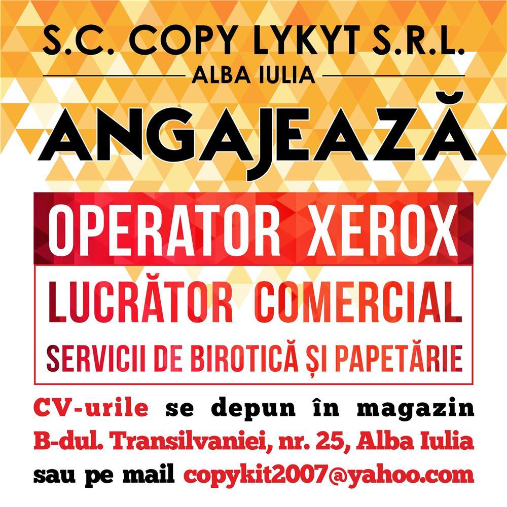 COPY KIT Alba Iulia angajeza OPERATOR XEROX