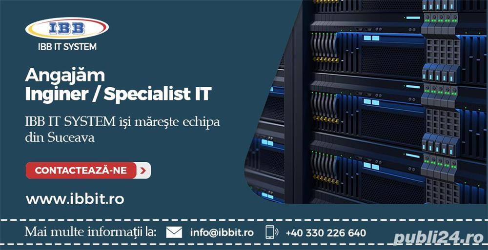 Specialist IT, Inginer IT