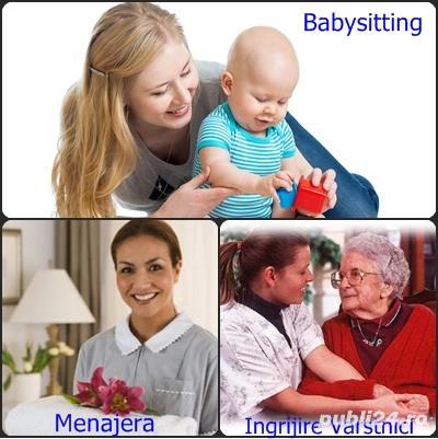 Solicita o persoana ingrijire varstnic sau bolnav  -  menajera - bona babysitter !