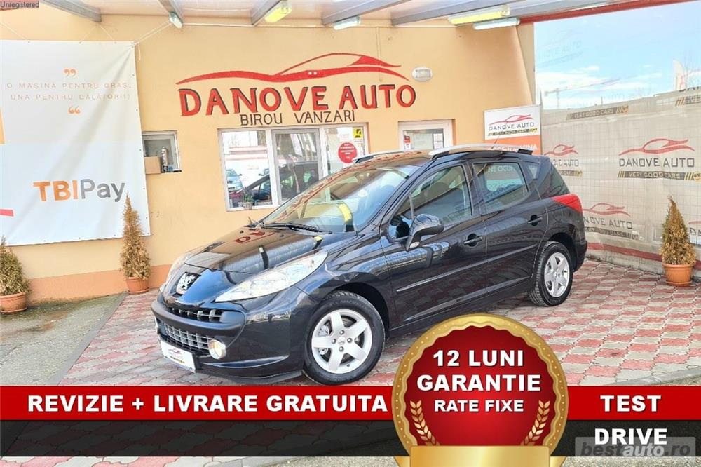 Peugeot 207 Revizie + Livrare GRATUITE, Garantie 12 Luni, RATE FIXE, 1400 benzina, 95CP, 2009
