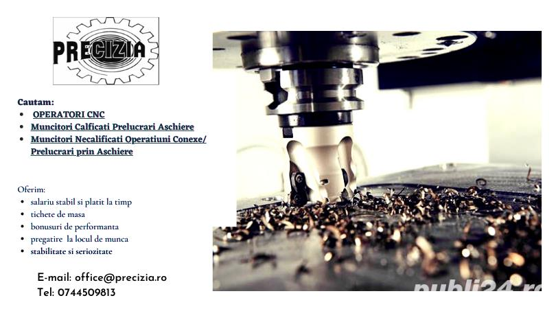Operatori CNC/Muncitori Calificati/Necalificati Prelucrari Aschiere