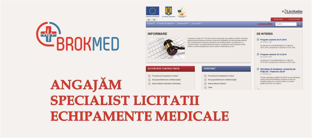 Angajam SPECIALIST LICITATII ECHIPAMENTE MEDICALE