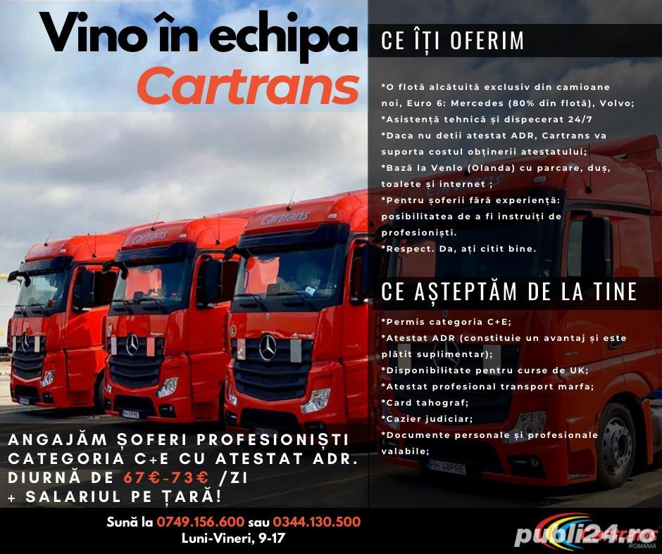 CARTRANS Romania  angajeaza SOFERI DE TIR PROFESIONISTI din toata tara  !