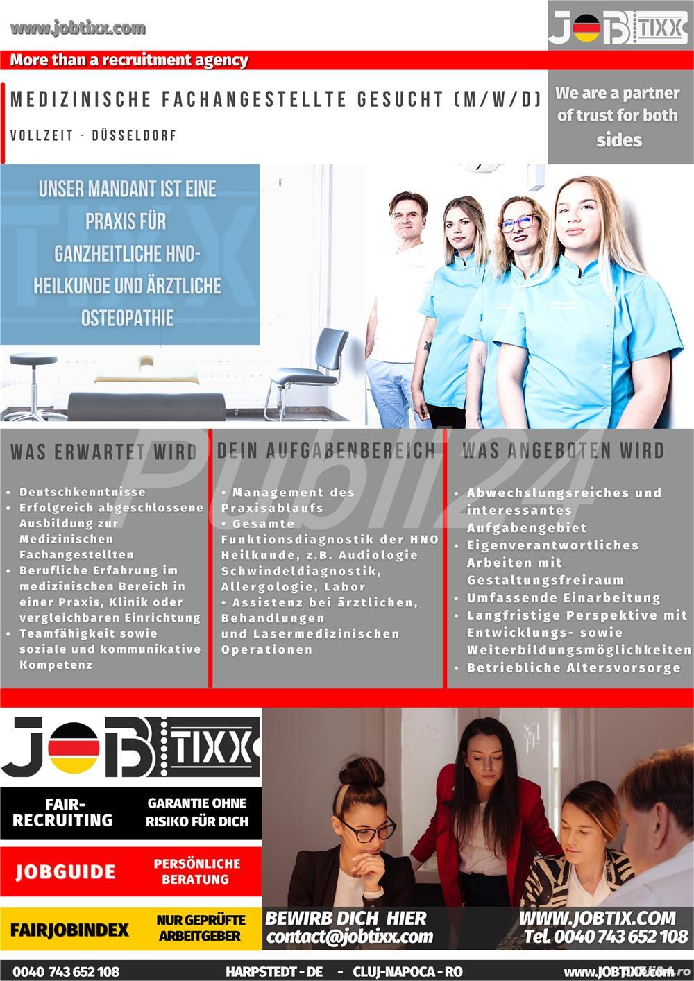 Medizinische Fachanagestellte (m/w/d) (Asistenta Medicala) in D sseldorf