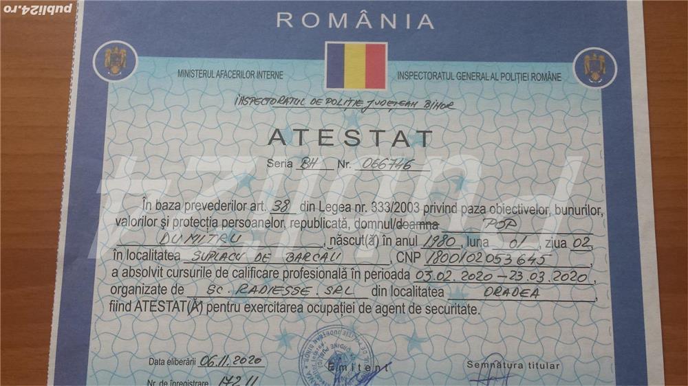 Caut loc de munca in Oradea ca si agent de securitate