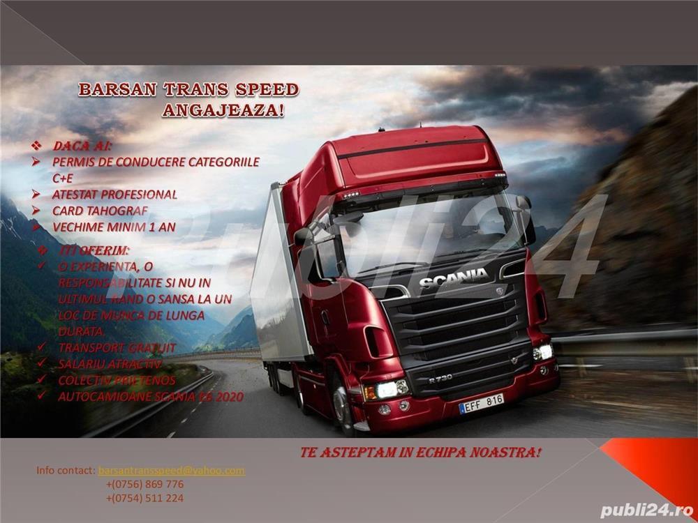 Barsan Trans Speed SRL angajeaza sofer C+E