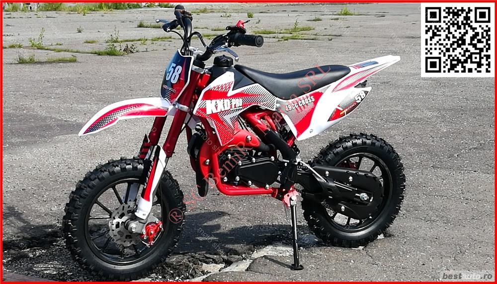 "MOTO CROSS 50CC midi DIRT BIKE - Poket J10"" OFERTA livrare GRATIS"